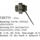 Бендикс стартера Nissan Primera P10 1.6 135711