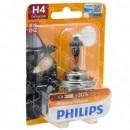 Лампа галоген H4 12В 60/55Вт PHILIPS Premium +30% 12342PRB1
