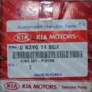 Кольца поршневые Kia B3, R10 / 0,50 / 75,5 / 1,2x1,2x2,5 / 43012, 0K3Y0-11-SC0, 0K3Y0-11-SDX